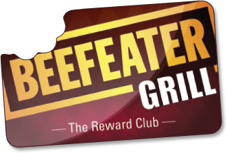 Beefeater Grill Reward club card